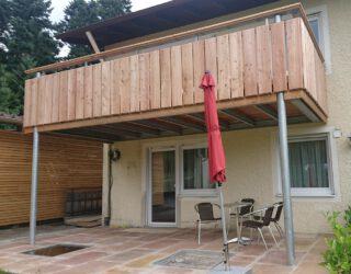 Stahlunterkonstruktion für einen Balkon